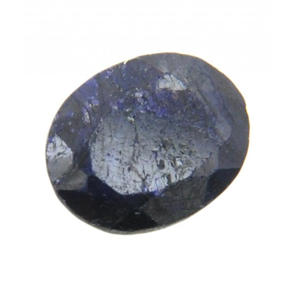 4.51ct Certified Oval Shape Color Enhanced Blue Sapphire-Neelam.
